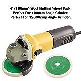Keadic 10 - Piece 100mm Wool Felt Disc Polishing