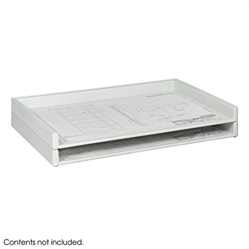 Safco Products 4897 Giant Stack Tray for 24'' x 36'' Documents, White