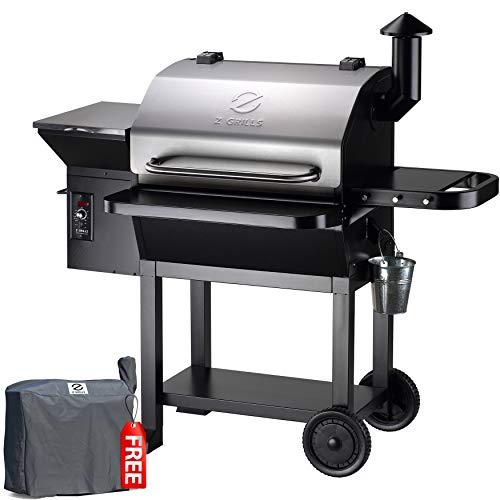 Z GRILLS ZPG-10002E 2020 New Model Wood Pellet Grill & Smoker, 8 in 1 BBQ Grill Auto Temperature Control, 1060sq, 1060…