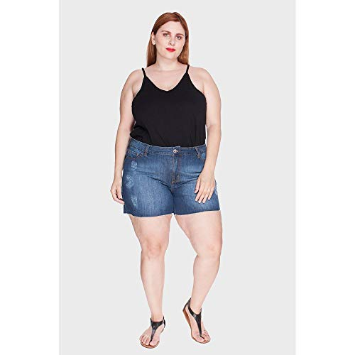 Shorts Stone Plus Size Azul-50