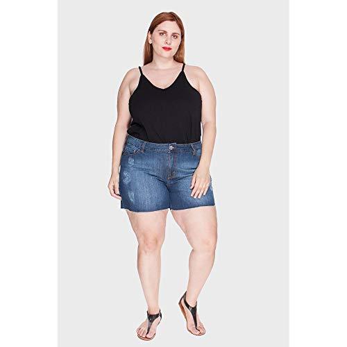 Shorts Stone Plus Size Azul-52