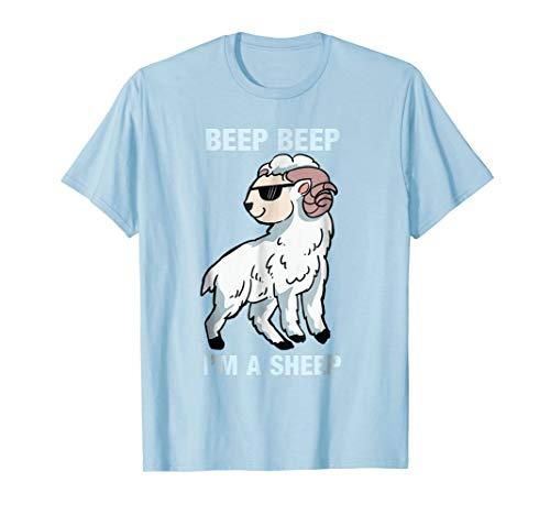 Animal Funny T-shirt Sheep (Beep Beep I'm A Sheep - Funny Animal T-Shirt)