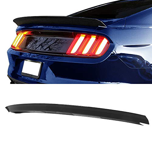 Fits 15-19 Ford Mustang Trunk Spoiler Wing Glossy Black ABS By IKON MOTORSPORTS