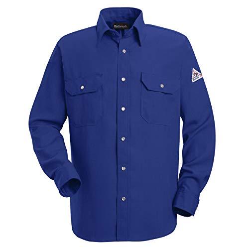 Bulwark Medium Tall Royal Blue Nomex IIIA Flame Resistant Shirt With Snap Closure ()