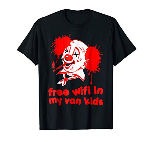 Funny Evil Clown Halloween Creepy Costume Shirt Gift -