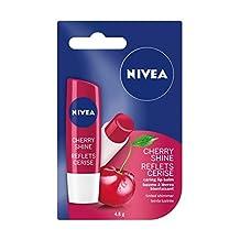 NIVEA Cherry Shine Tinted Caring Lip Balm Stick, 4.8g