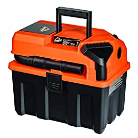 Armor All 2.5 Gallon, 2 Peak HP, Utility Wet/Dry Vacuum, AA255 12 Convenient toolbox design for easy storage and transport Integrated hose and accessory storage Hassle-free, untethered cordless operation