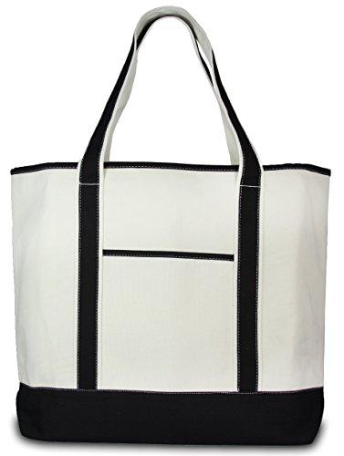 Deluxe Canvas Tote Bag, Black