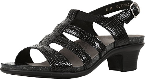 (SAS Women's Allegro Black Croc Leather Size 10 Medium)