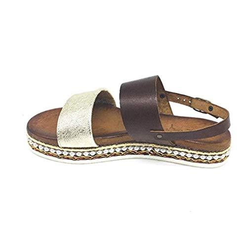 Zapatos Y 001 Cinzia En Dorado Mujer Sandalias Cuero De Mb366i Soft Marrón ATqnrwAf
