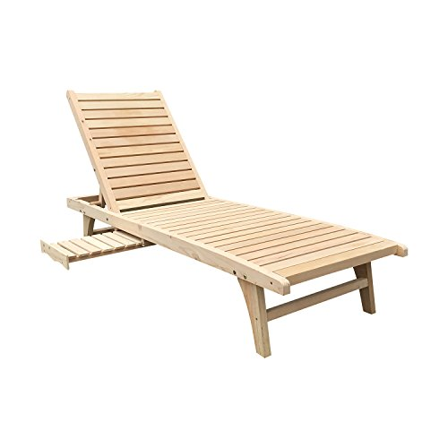 WALCUT Garden Patio Chaise Lounge Chair Foldable Back Adirondack Chair Adjustable Outdoor Furniture (Outdoor Adjustable Adirondack Lounge)