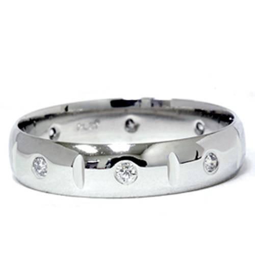 Mens 950 Platinum Diamond Polished Wedding Ring Band (Diamond Ring 950 Platinum Rings)