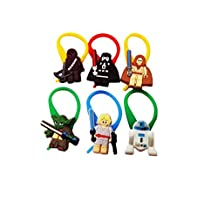AVIRGO Lego #3 Star Wars Colorful Bag Tag Identify your Luggage Set of 6 pcs / Sac Marker Identifiez Votre Bagages
