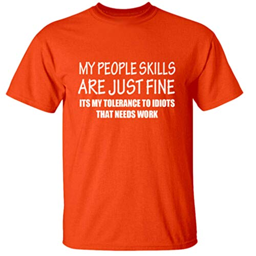 POHOK Men Letter Tops Men's Summer Fashion Casual Comfort Print Short Sleeve T-Shirt Blouse Tops(M,Orange