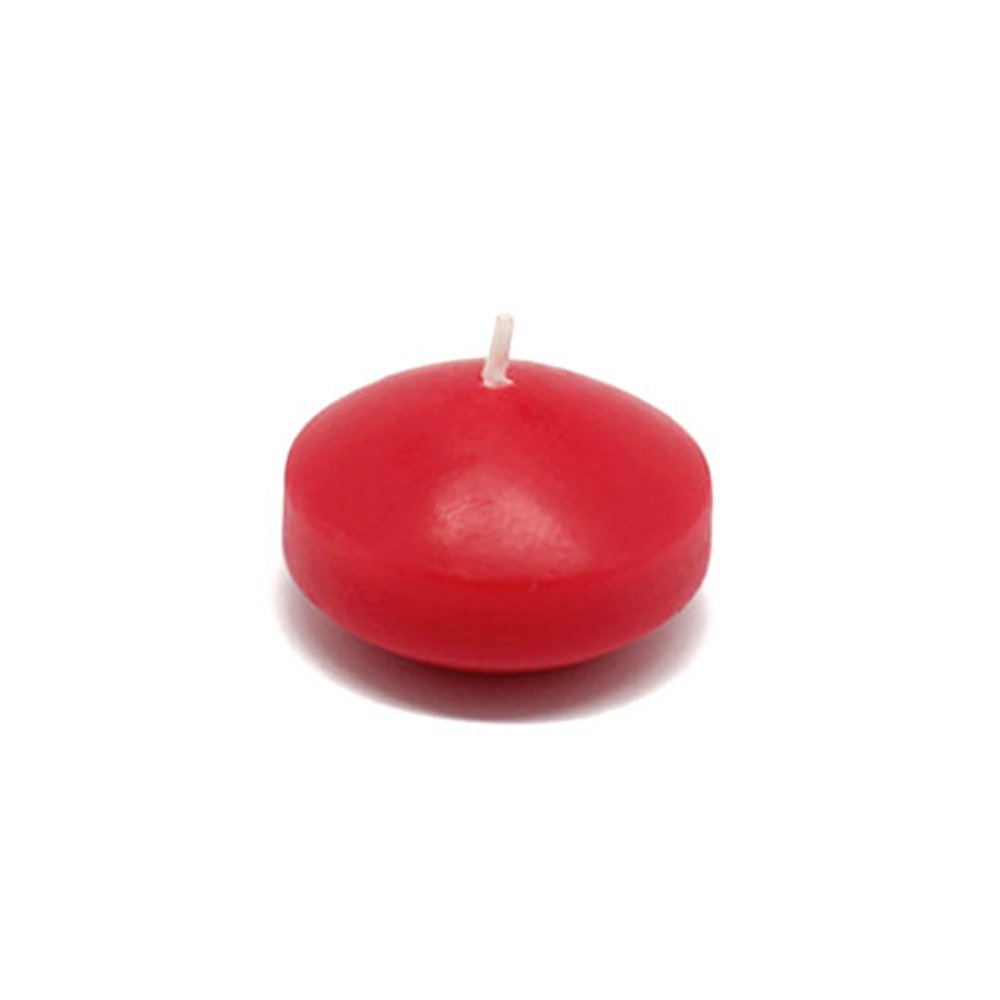 Zest Candle CFZ-008_12 288-Piece Floating Candle, 1.75'', Red