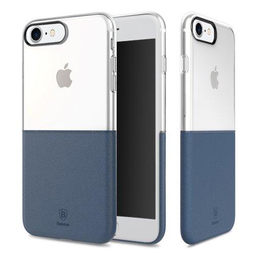 Baseus Premium Maker Case für Apple iPhone 7 dark blue - Faceplate