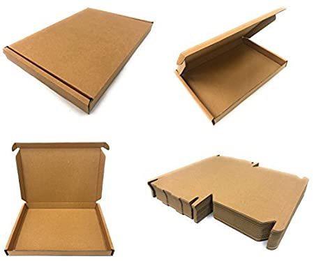 INERRA C5 A5 Large Letter (BUSTE GRANDI) SCATOLE (quantità scelta) Pip Mailing MAIL POSTALE SCATOLA - 235 x 165 x 22mm Prodotto in the UK - Marrone, 5 x C5 Boxes