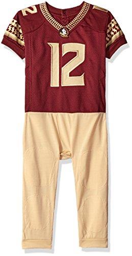 FAST ASLEEP NCAA Florida State Seminoles Boys Infant Football Uniform Pajamas, 12-18 Months, Maroon/Gold