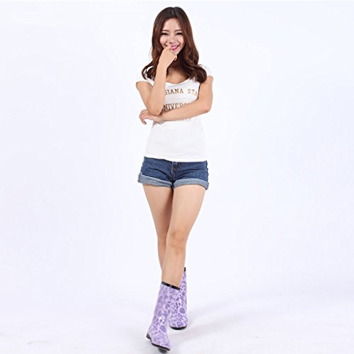 Ms Wellington Rain Boots Rubber Rain Boots Purple LViSOa6iT