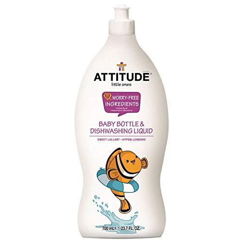 ATTITUDE Little Ones, Hypoallergenic Baby Bottle & Dishwashing Liquid, Sweet Lullaby, 23.7 fl. oz. (Attitude Baby Detergent)