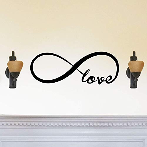 Love Forever Infinity Symbol - Beautiful Solid Steel Home Decor Decorative Accent Metal Art Wall Sign