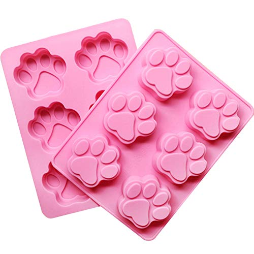 NiceWave 6 Grid Cake Molds Cat Claw Pattern Silicone Fondant Mold DIY Baking Molds for Cake Chocolate Jelly Pudding Dessert Molds (Random color) Creative Design]()