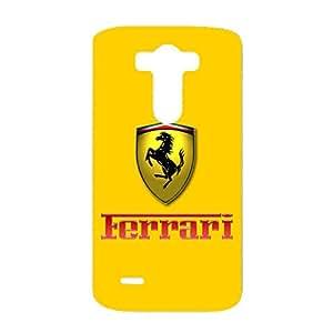 Customized Design Ferrari Logo Phone Case 3D Special Hard Skin for LG G3 with Ferrari Logo
