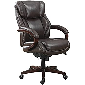 La Z Boy Bellamy Executive Bonded Leather Office Chair   Coffee (Brown)