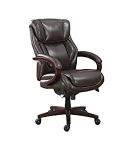 La Z Boy Bellamy Executive Bonded Leather Office Chair - Coffee (Brown)
