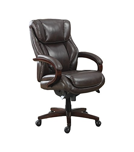 Traditional Leather Executive Chair (La-Z-Boy Bellamy Executive Bonded Leather Office Chair - Coffee (Brown))