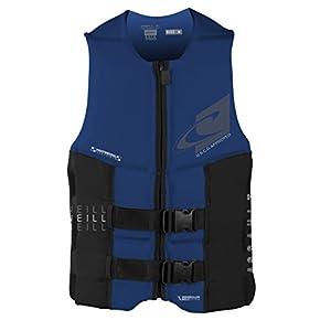 O'Neill Wetsuits Men's Assault USCG Life Vest, Pacific/Black