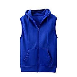 Men's Sleeveless Slim Fit Hoodie Jackets