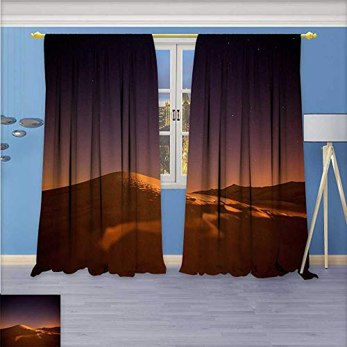 Shine Star Lab Collection (Alta Pine Forest Design Collection,The stars shine the red light of the desert dunes,Living Kids Girls Room Curtain, 84W x 84L Inch)