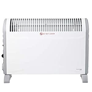 SORTFIELD Convector Radiator Heater with Adjustable Thermostat, 3 Heat Settings (750/1250 / 2000 W) / Timer/Electrical…