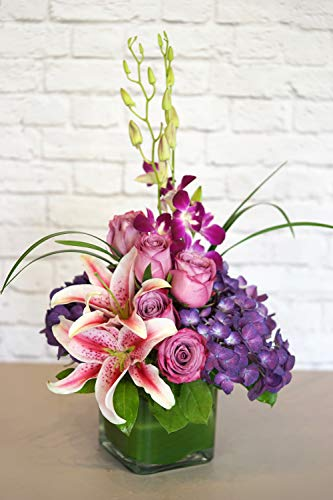 (Purples in Paris - Fresh Flowers Hand Delivered)