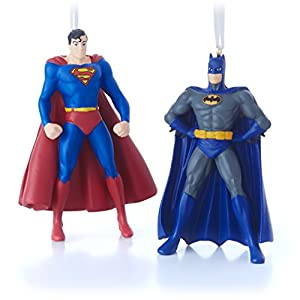 Amazon.com: Hallmark DC Comics Superman and Batman Christmas ...