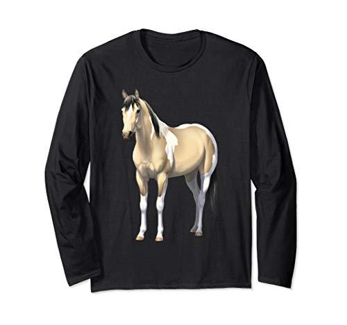 Buttermilk Buckskin Pinto Quarter Horse Paint Horse Long Sleeve T-Shirt ()