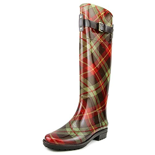 en Womens Rossalyn 2 PVC Knee High Rain Boot, Brown/Sage Multi, 9 (Ralph Lauren Rain Boots)