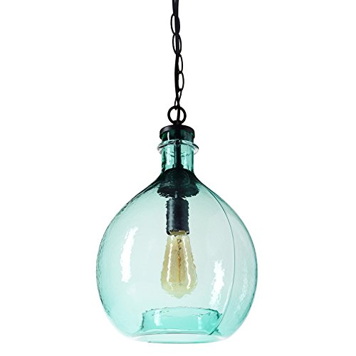 Aqua Glass Pendant Light in Florida - 1