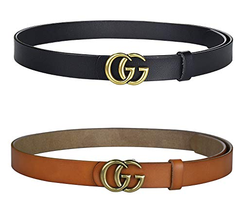 395f602513b Fashion G-Style Gold Buckle Unisex Cowhide Leather Belt Vintage Thin Dress  Belts For Jeans · UtooBlog.Com