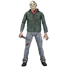 Neca - Figurine Jason Voorhees Friday 13th Battle Damaged 18cm - 0634482397831
