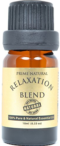 Relaxation Essential Oil Blend 10ml / 0.33oz - 100% Natural Pure and Undiluted Therapeutic Grade for Aromatherapy, Scents & Diffuser - Calming, Soothing, Boost Mood, Uplift, Romantic Sensual Scent