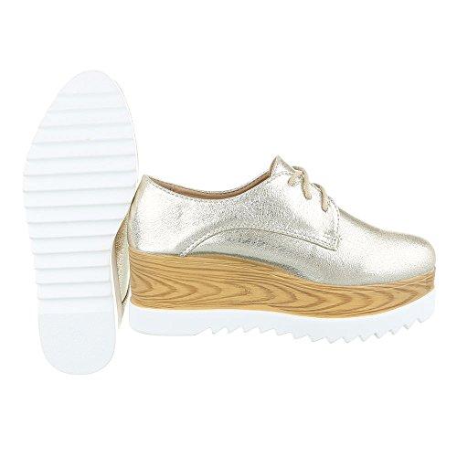 Stringate design Ital Gold Scarpe Basse Donna q4gf0pwx