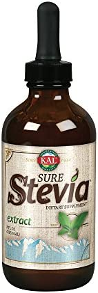 KAL Sure Stevia Liquid Extract 8 oz Best-Tasting, Zero Calorie, Low Glycemic For Baking Adding to Beverages 1555 Servings