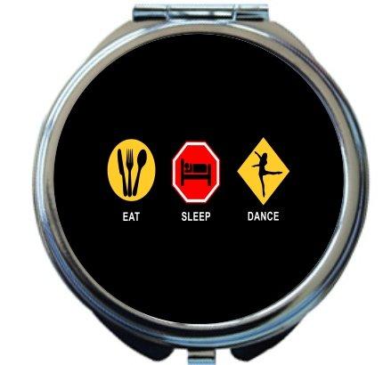 Rikki Knight Eat Sleep Dance Design Round Compact Mirror by Rikki Knight