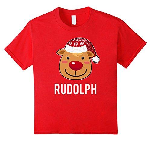 Kids Santa Reindeer Rudolph T-Shirt Christmas Group Costume