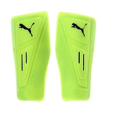 Puma PowerCat 12 LA Slip Fluro Yellow/Metallic Black Shinguard Size Medium