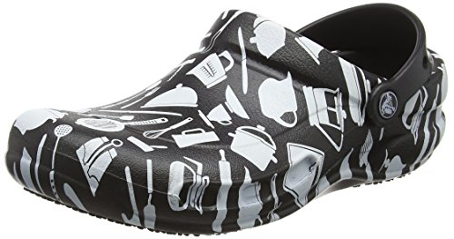 crocs Unisex Bistro Graphic Clog Mule, Multi, 12 US Men / 14 US Women