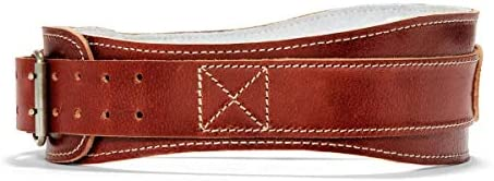 4.75 Power Leather Lifting Belt in Natural Leather Size XL 40 – 45