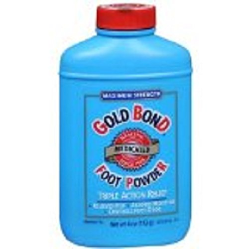 Gold Bond Foot Powder Medicated Maximum Strength, 4.0 OZ (6 Pack) by Gold Bond